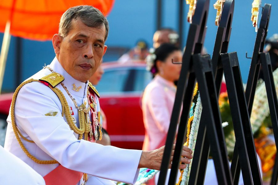 Le roi Maha Vajiralongkorn de Thaïlande à Bangkok, le 22 octobre 2019