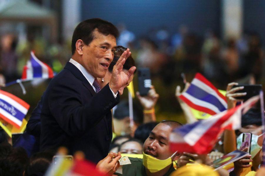 Le roi Maha Vajiralongkorn (Rama X) de Thaïlande à Bangkok, le 14 novembre 2020