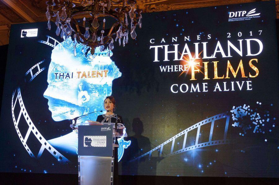 La princesse Ubolratana Rajakanya Sirivadhana Barnavadi de Thaïlande, elle-même actrice, au Festival de Cannes, le 18 mai 2017
