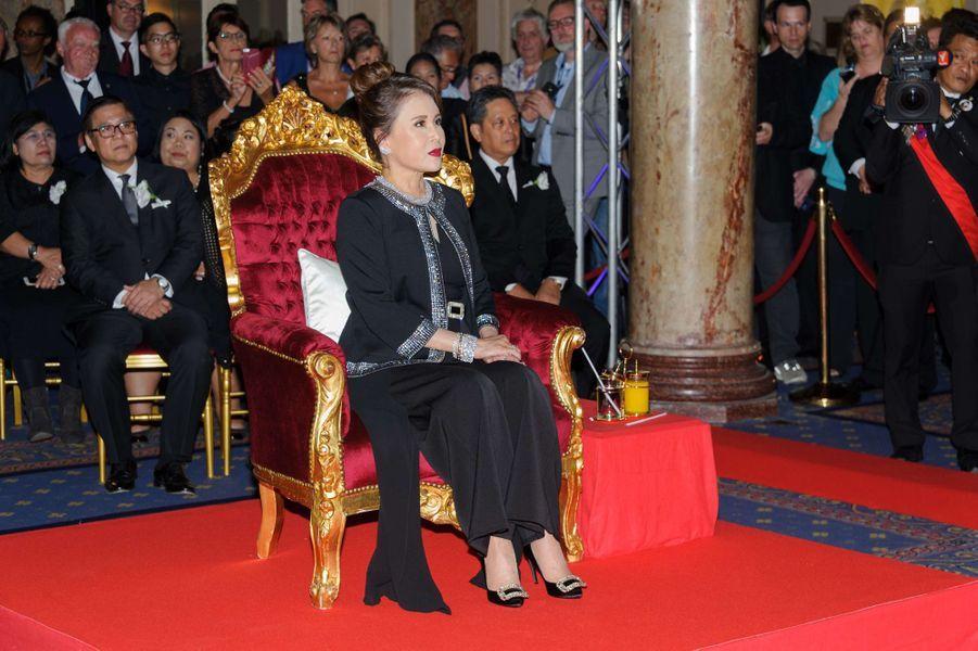 La princesse Ubolratana Rajakanya Sirivadhana Barnavadi de Thaïlande à l'hôtel Carlton à Cannes, le 18 mai 2017