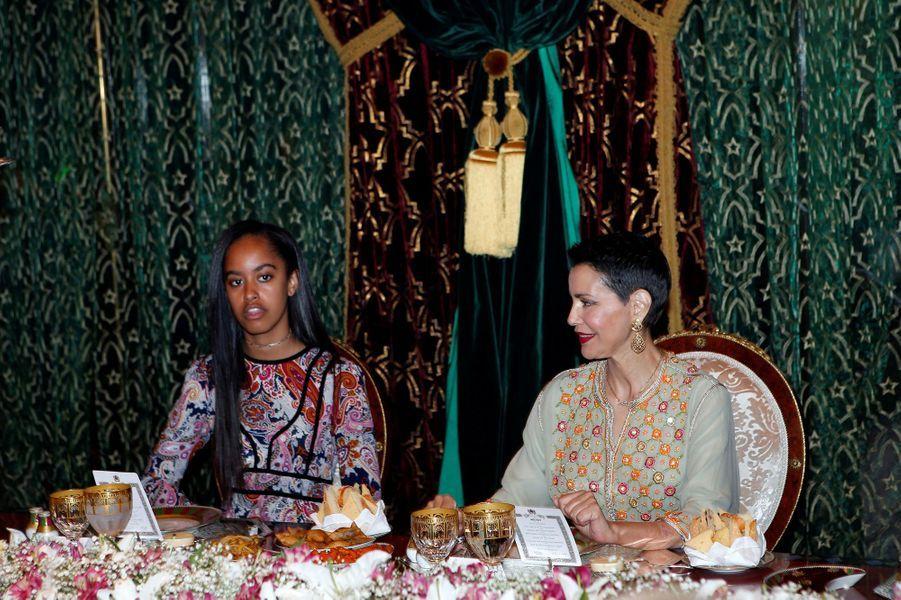 La princesse Lalla Meryem et Malia Obama à Marrakech, le 28 juin 2016