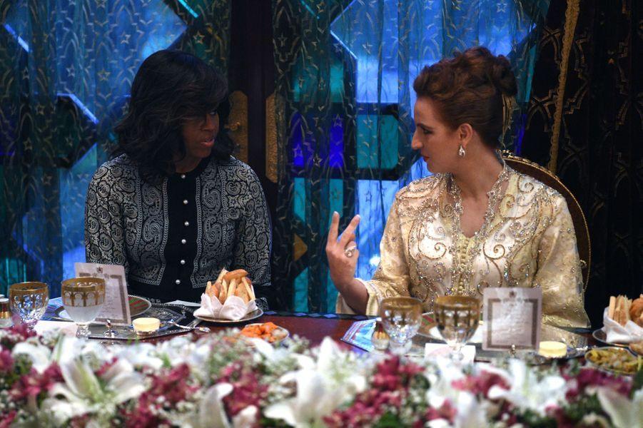 La princesse Lalla Salma et Michelle Obama à Marrakech, le 28 juin 2016