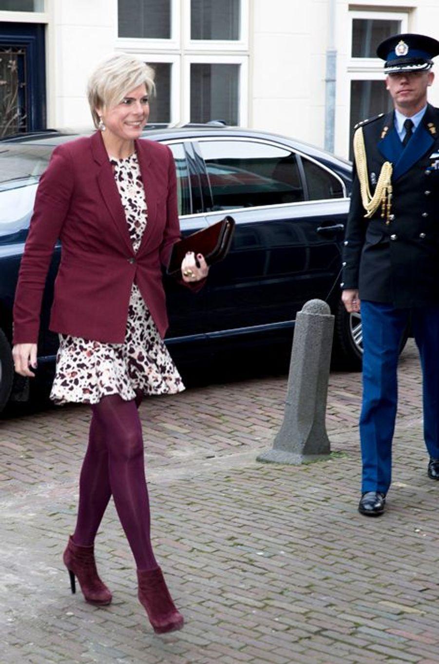 La princesse Laurentien des Pays-Bas à Hoorn, le 21 janvier 2015