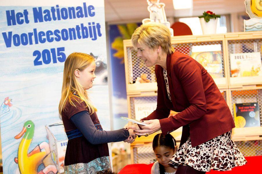 La princesse Laurentien des Pays-Bas lance la «Nationale Voorleesdagen» à Hoorn, le 21 janvier 2015