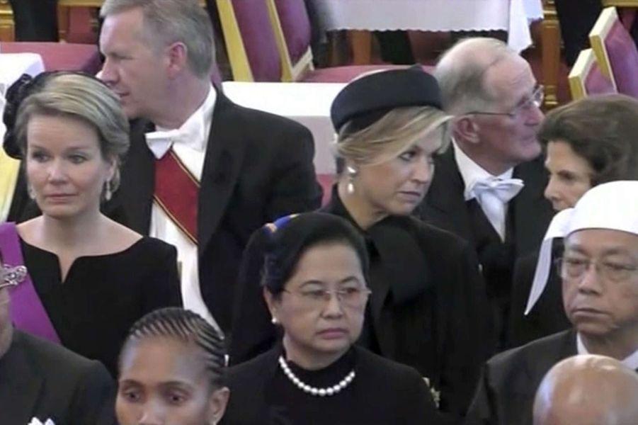 La reine des Belges Mathilde, la reine Maxima des Pays-Bas et la reine Silvia de Suède à Bangkok, le 26 octobre 2017