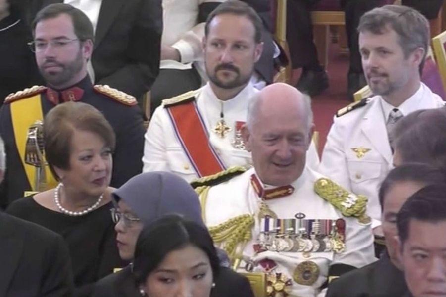 Les princes héritiers Guillaume de Luxembourg, Haakon de Norvège et Frederik de Danemark à Bangkok, le 26 octobre 2017