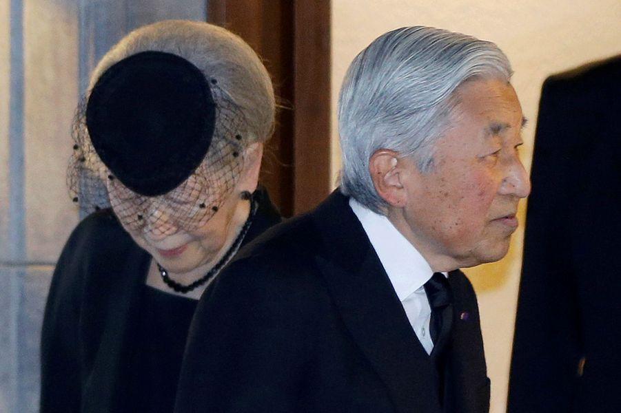 L'impératrice Michiko et l'empereur Akihito du Japon à Tokyo, le 2 novembre 2016