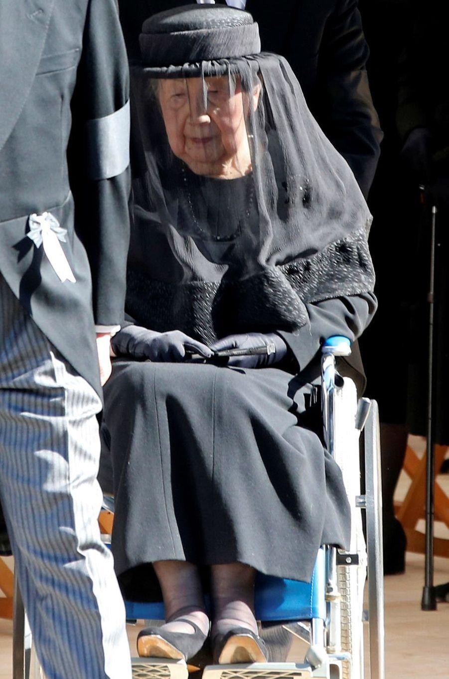 La princesse Yuriko du Japon, veuve du prince Mikasa, à Tokyo le 4 novembre 2016