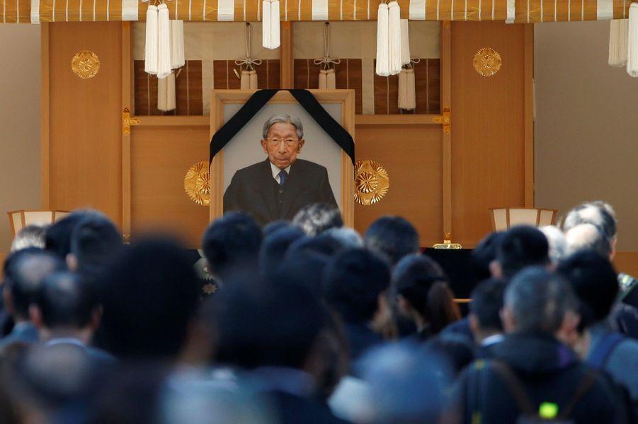 Cérémonie des obsèques du prince Mikasa du Japon à Tokyo, le 4 novembre 2016
