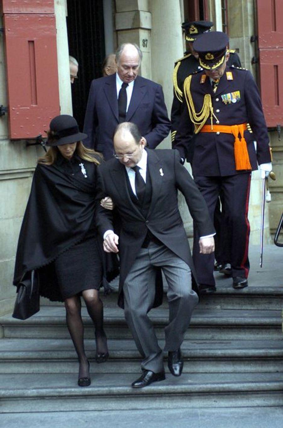 Le prince Kardam de Bulgarie et son épouse Miriam, le 11 décembre 2004