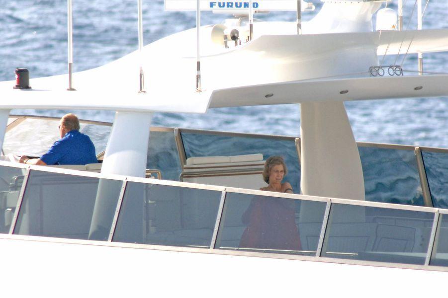 Juan Carlos et Sofia sur le Fortuna en 2005