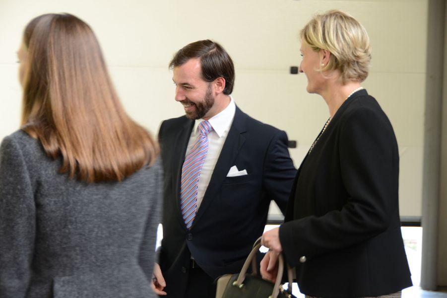Stéphanie et Guillaume en visite à Steinsel, le 29 octobre 2014.
