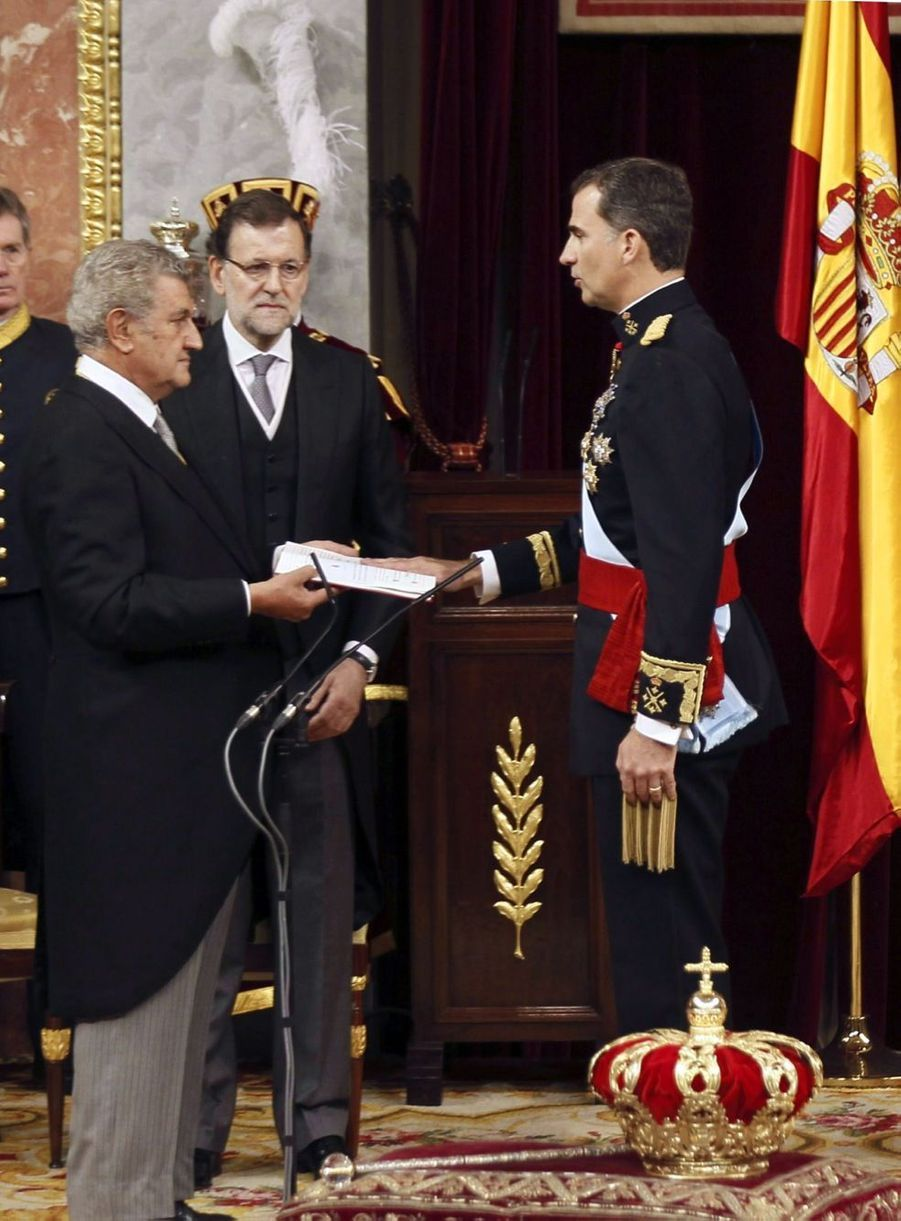 En photos : le prince devient Felipe VI, roi d'Espagne
