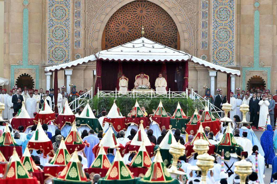 La cérémonie de présentation des vœux et des offrandes