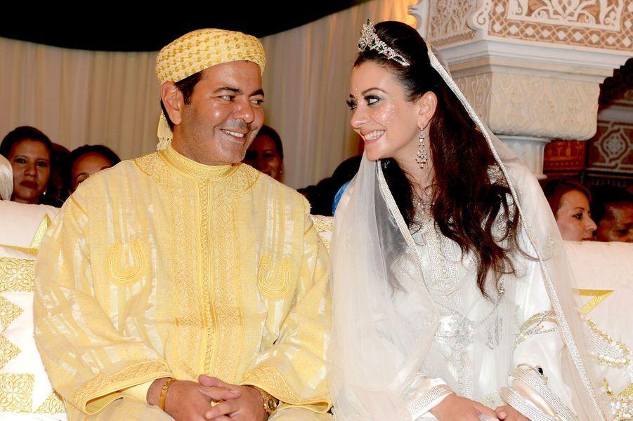 Le prince Moulay Rachid et Lalla Oum Keltoum, lors de la cérémonie de la présentation.