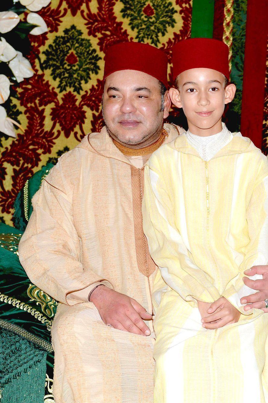 Le roi du Maroc et son fils Moulay Hassan