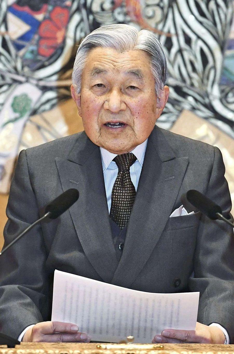 L'empereur Akihito du Japon à Tokyo, le 20 décembre 2017
