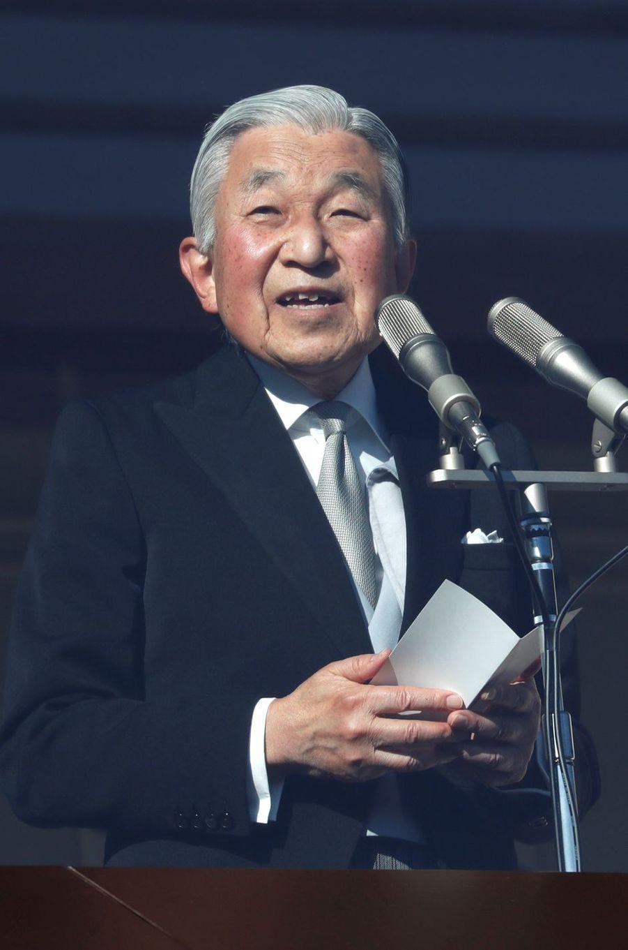 L'empereur Akihito du Japon à Tokyo, le 23 décembre 2017