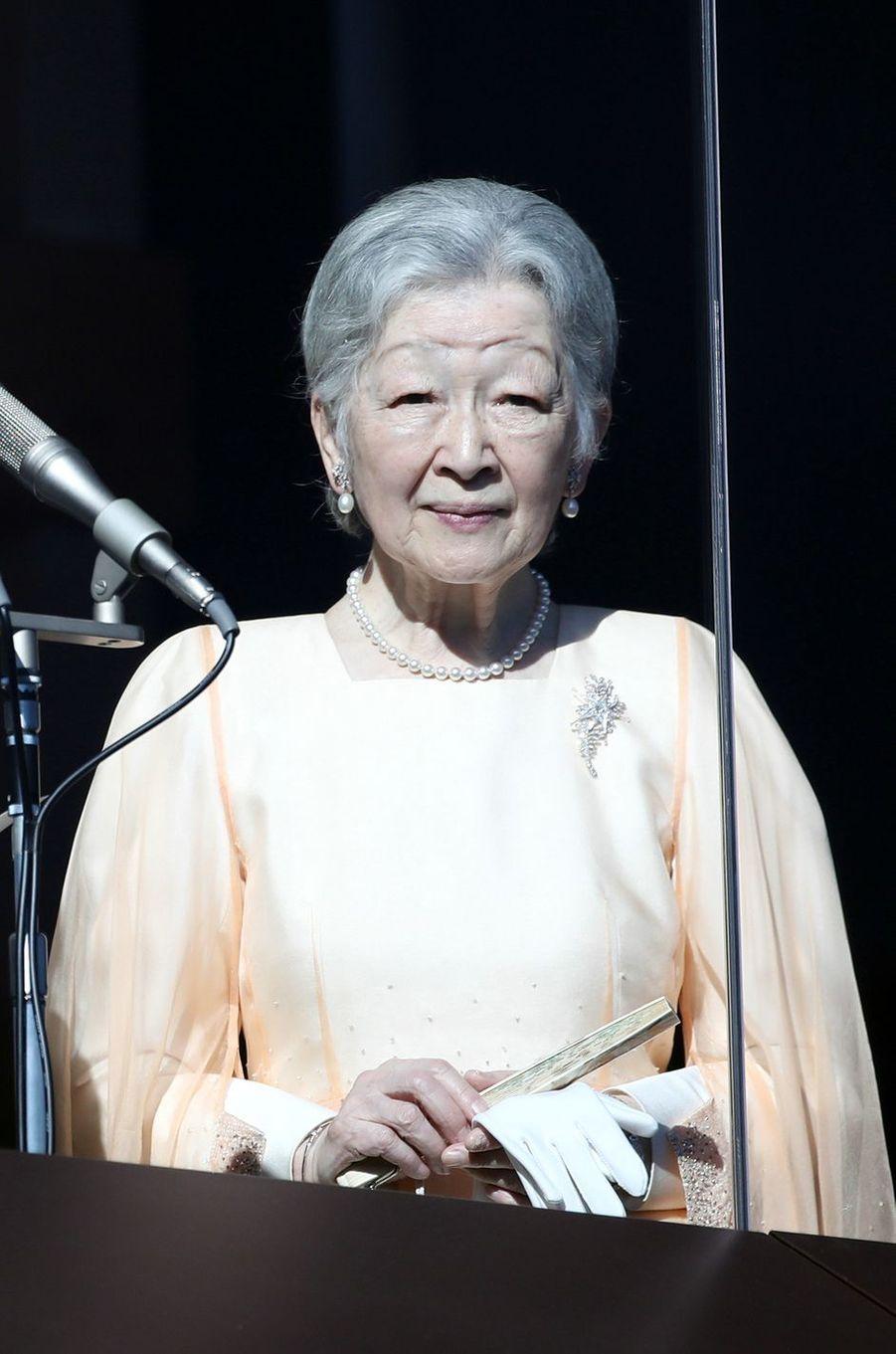 L'impératrice Michiko du Japon à Tokyo, le 23 décembre 2017