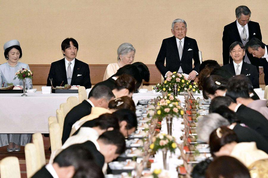 La famille impériale du Japon à Tokyo, le 23 décembre 2017