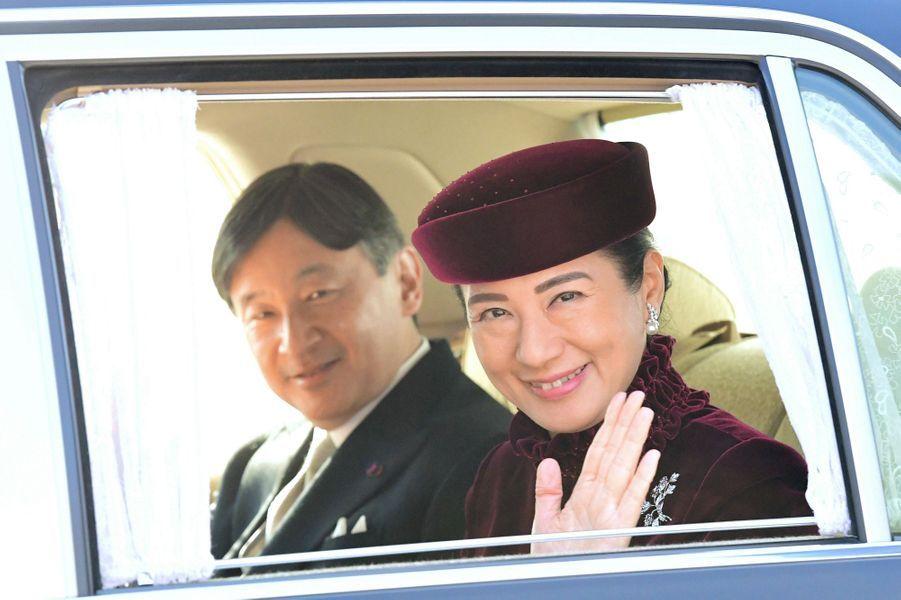 La princesse Masako et le prince Naruhito du Japon à Tokyo, le 23 décembre 2017
