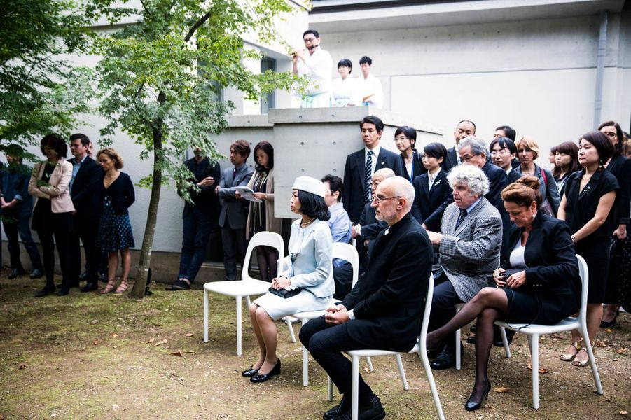 La princesse impériale du Japon Akiko de Mikasa, lors de l'inauguration de la Villa Kujoyama à Tokyo, le 4 octobre 2014