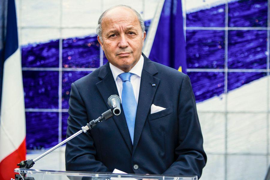 Laurent Fabius, ministre des Affaires étrangères et du Développement international lors de l'inauguration de la Villa Kujoyama à Tokyo, le 4 o...