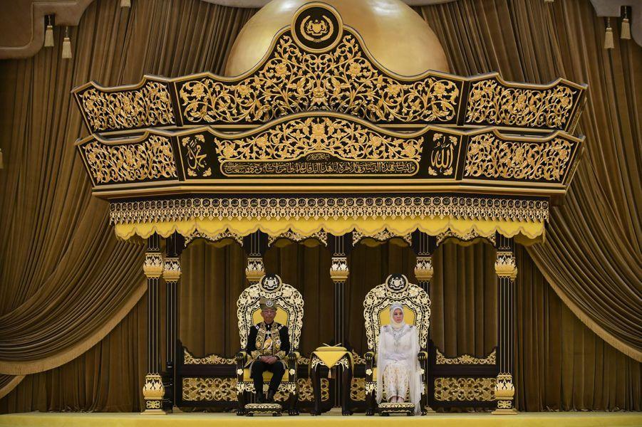 """Cérémonie du """"couronnement"""" du 16e roi de Malaisie à Kuala Lumpur, le 30 juillet 2019"""
