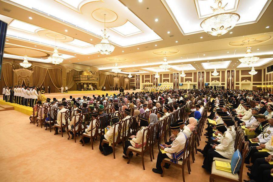 """Cérémonie du """"couronnement"""" du nouveau roi de Malaisie à Kuala Lumpur, le 30 juillet 2019"""