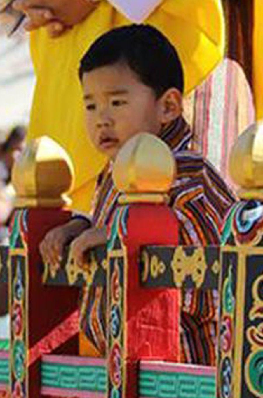 Le petit prince héritier du Bhoutan à Gasa, le 28 décembre 2017