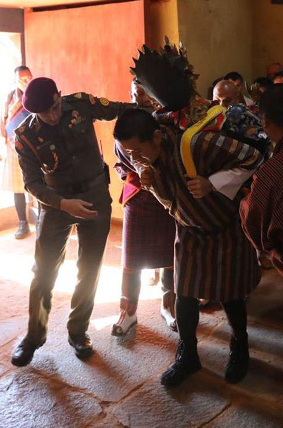 Le roi du Bhoutan Jigme Khesar NamgyelWangchuck à Gasa, le 28 décembre 2017