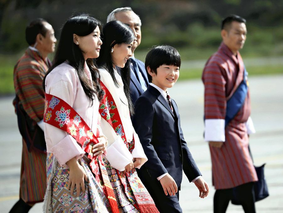 Le prince Hisahito du Japon à Paro au Bhoutan, le 17 août 2019