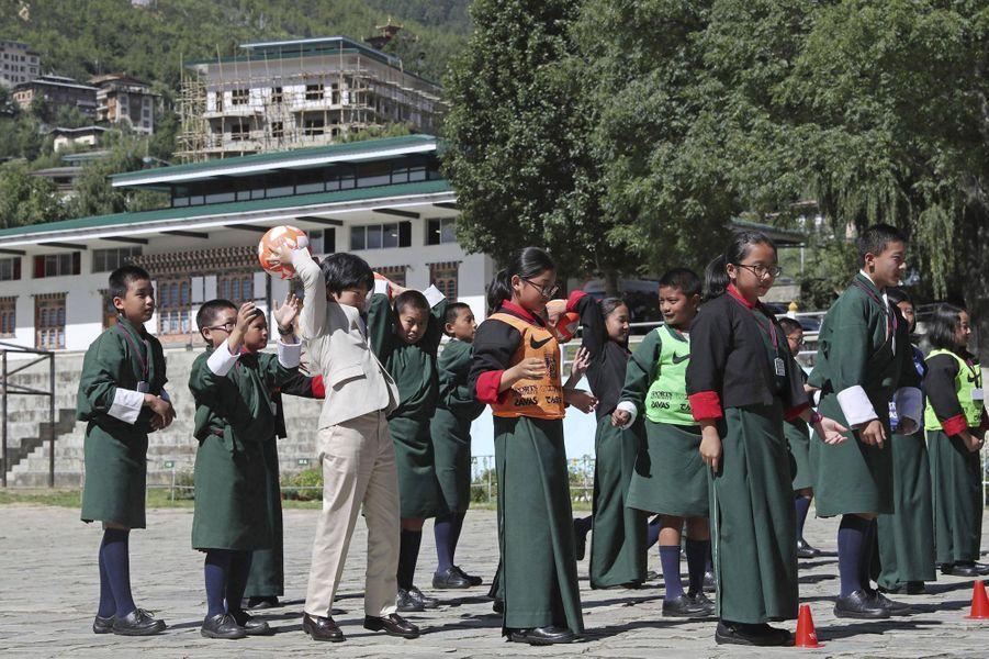 Le prince Hisahito du Japon à Thimphou au Bhoutan, le 20 août 2019