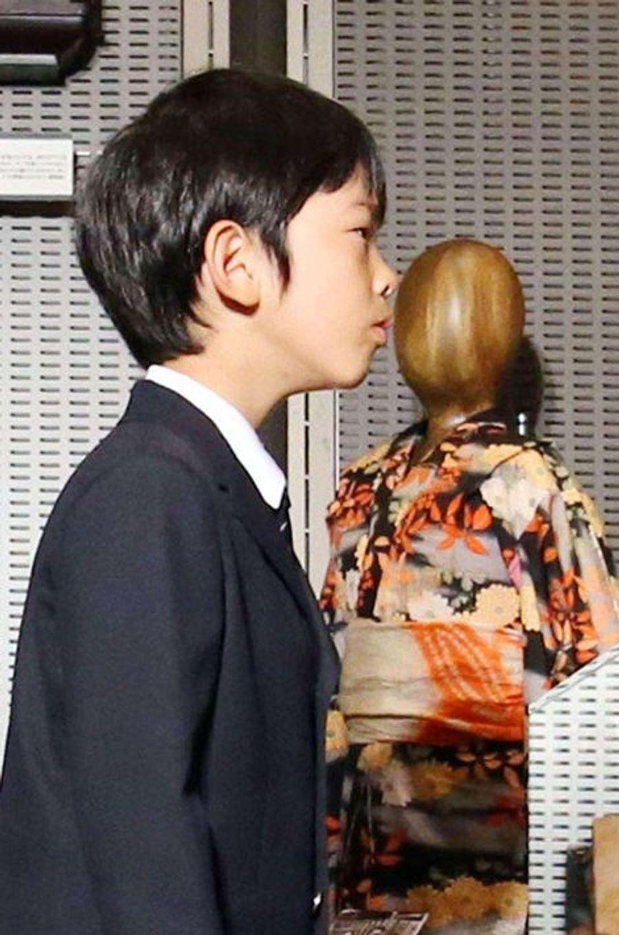 Le prince Hisahito au Showa-kan à Tokyo, le 7 août 2015