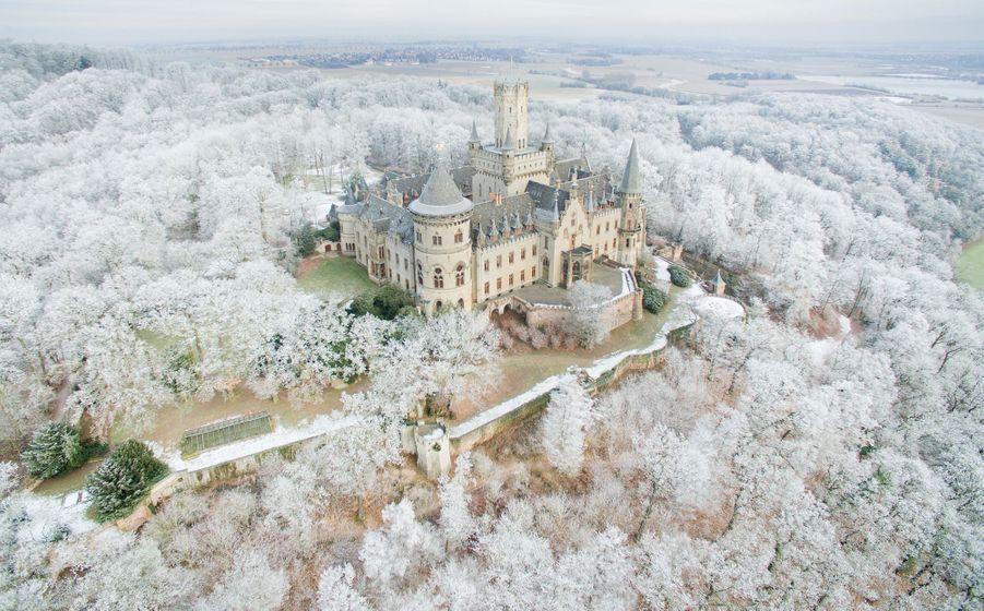 Le château de Marienburg en Allemagne en hiver, le 18 janvier 2017