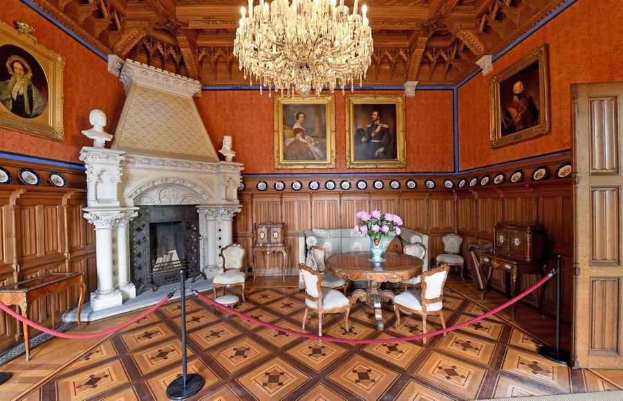 L'un des salons du château de Marienburg en Allemagne, le 27 juin 2017
