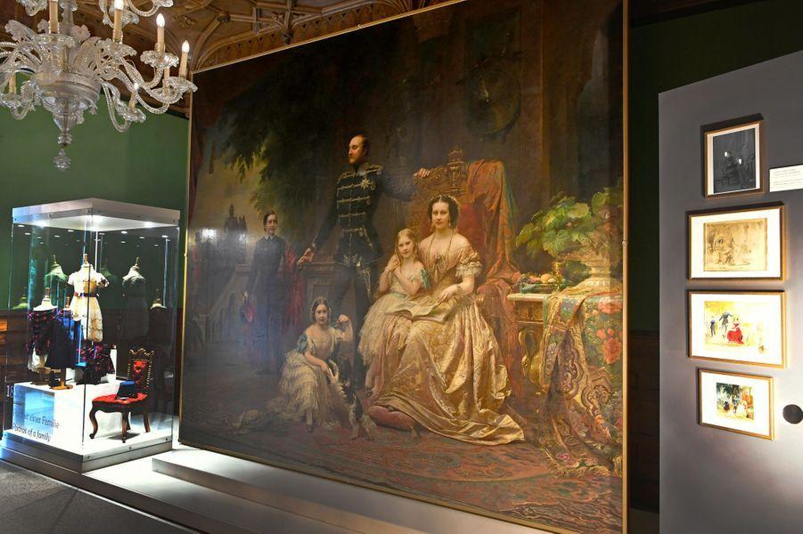 L'exposition consacrée au roi George V de Hanovre et à la reine Marie au château de Marienburg, le 12 avril 2018