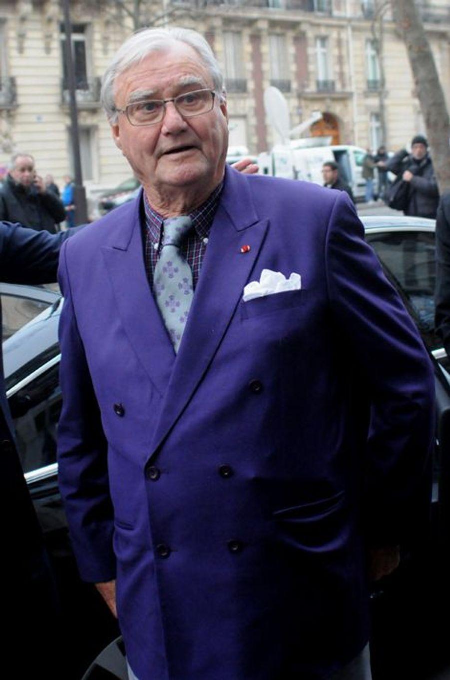 Le prince Henrik arrive à l'ambassade du Danemark à Paris, le 16 février 2015