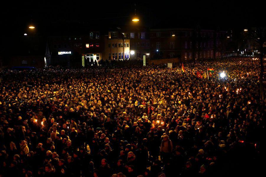 Rassemblement en hommage aux victimes des attentats à Copenhague, le 16 février 2015