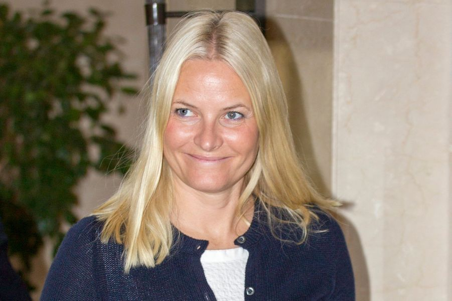 La princesse Mette-Marit à son hôtel à Amman, lors de son voyage officiel avec le prince Haakon en Jordanie, le lundi 20 octobre