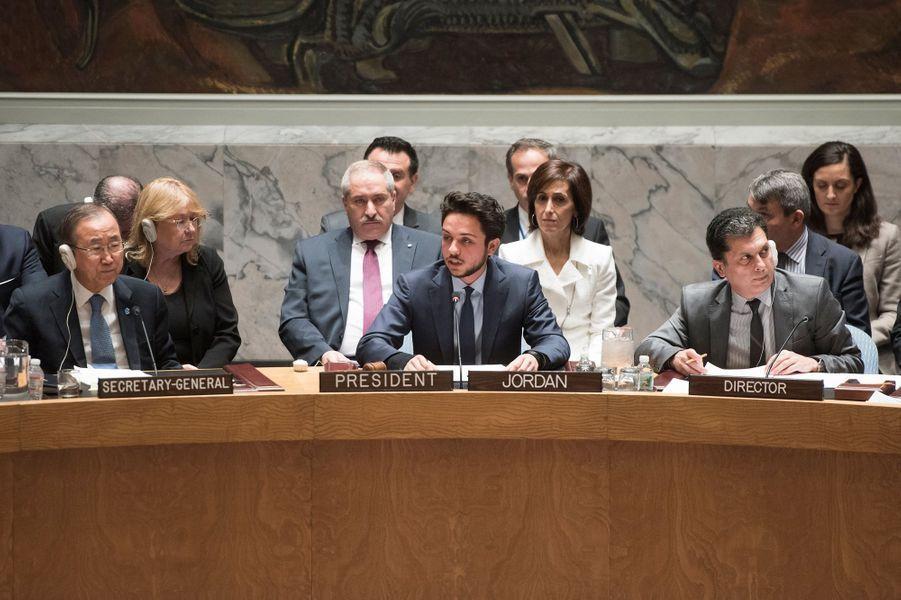 Le prince Hussein de Jordanie à l'ONU, le 23 avril 2015