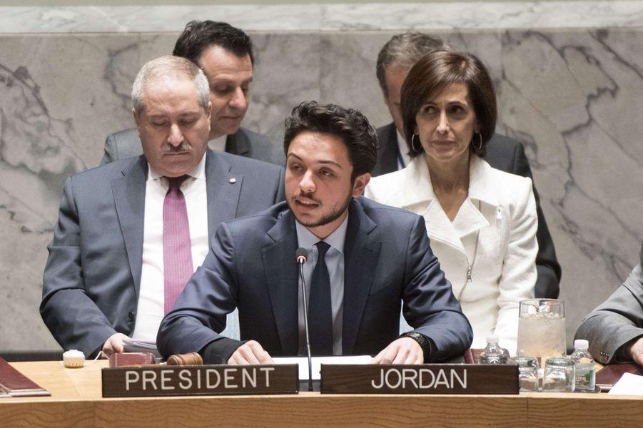 Le prince Hussein aux Nations Unies, le 23 avril 2015