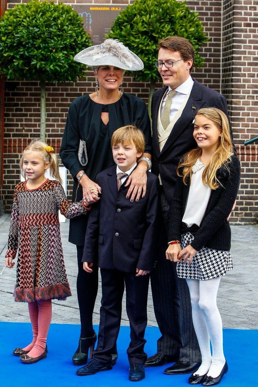 Le prince Constantijn, la princesse Laurentien, et leurs enfants la comtesse Eloise, le comte Claus-Casimir et la comtesse Leonore