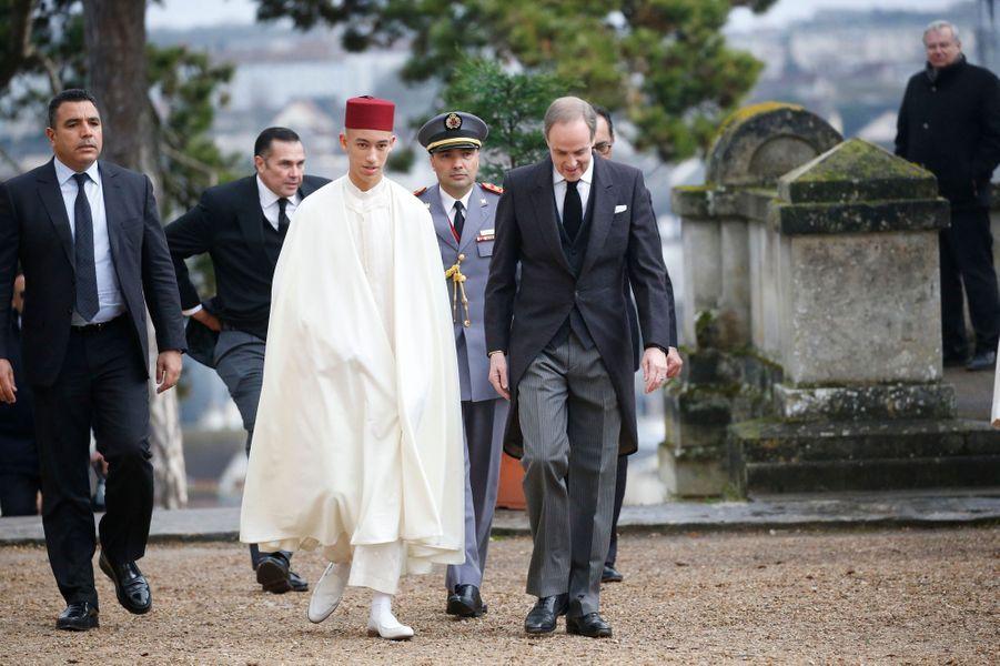 Le prince héritier Moulay El Hassan du Maroc à Dreux, le 2 février 2019