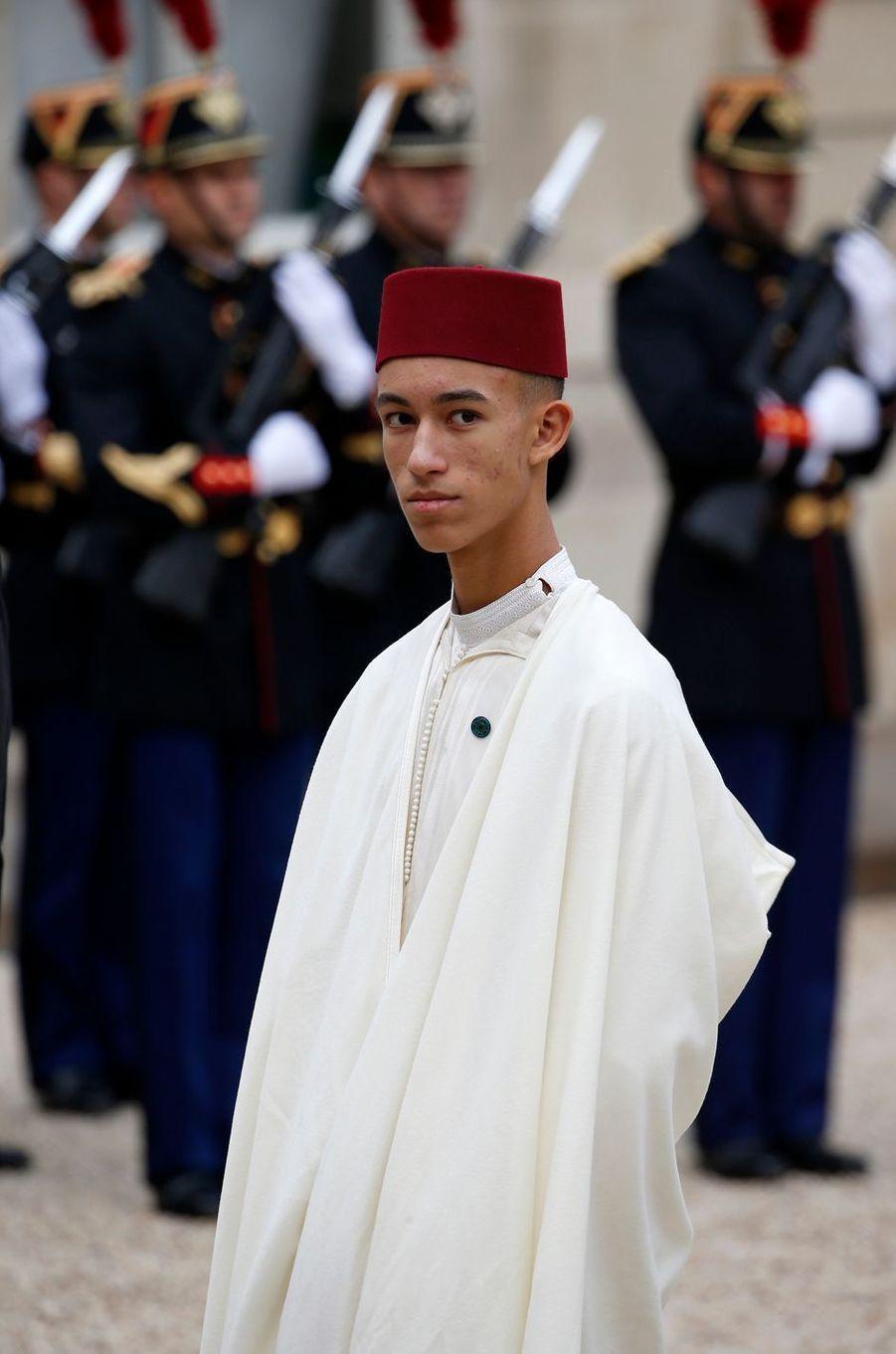 Le prince Moulay El Hassan du Maroc à Paris, le 30 septembre 2019