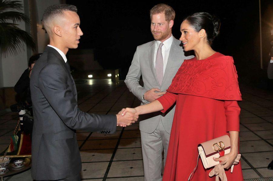 Le prince Moulay El Hassan du Maroc accueille le prince Harry et Meghan Markle à Rabat, le 23 février 2019