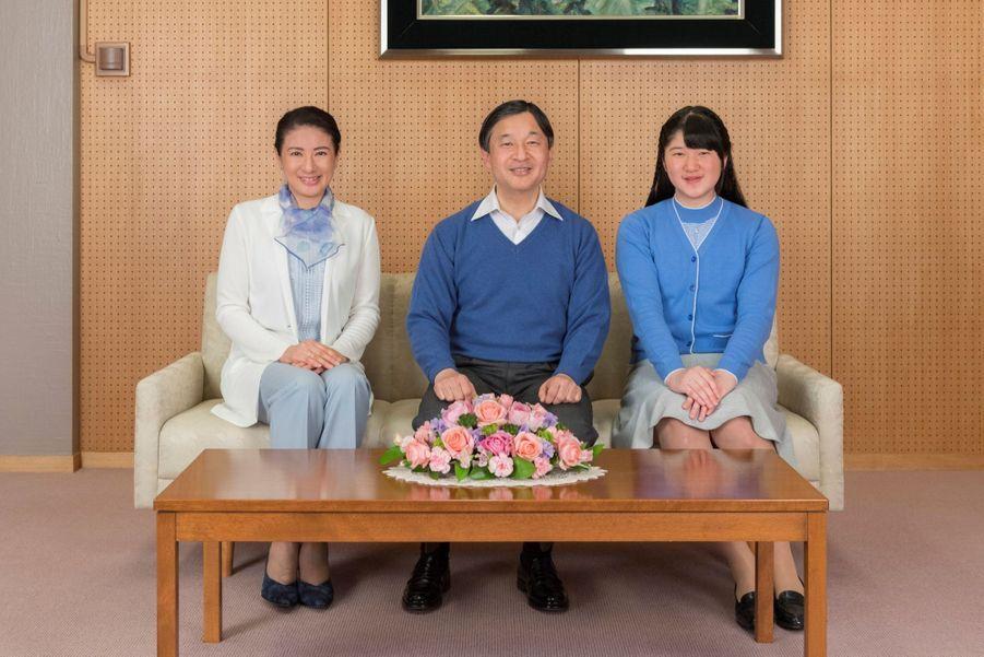 Naruhito, le prince héritier du Japon en compagnie de son épouse Masako et de leur fille Aiko