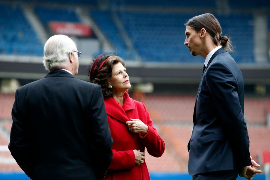 Le couple royal de Suède et Zlatan, ici c'est Paris