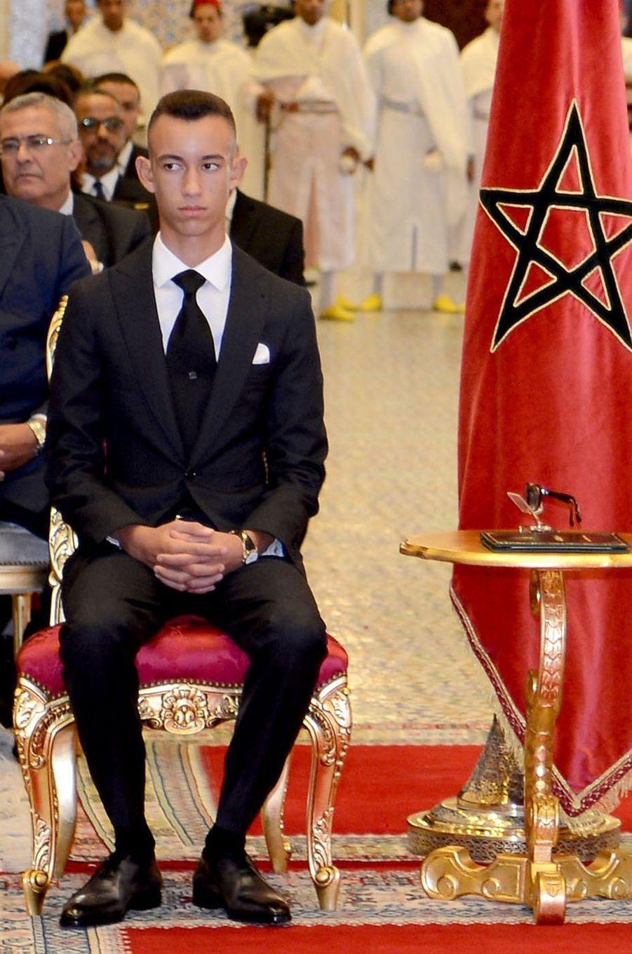 Le prince Moulay El Hassan du Maroc à Rabat, le 17 septembre 2018