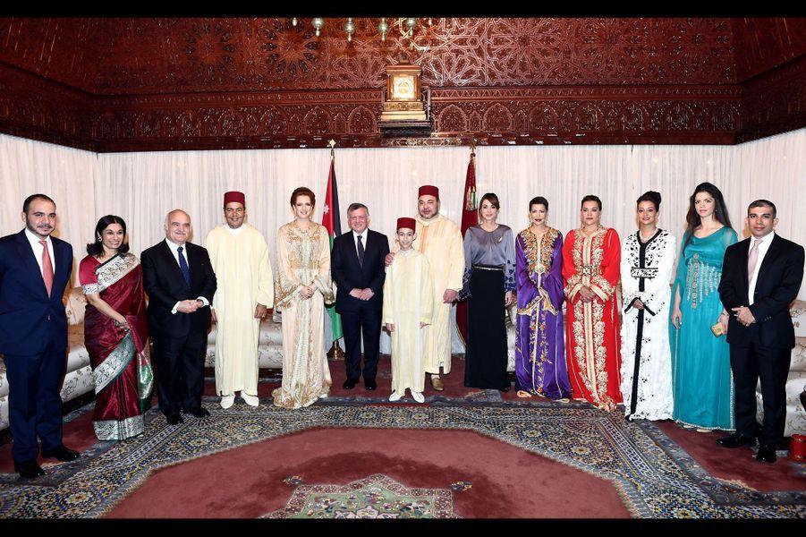 Mohammed VI et Lalla Salma ont reçu Abdallah II et Rania